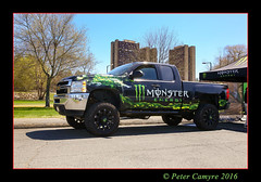 MONSTER - TRUCK (Peter Camyre) Tags: umass university massachusetts motorsports car club auto show 2016 monster energy drink truck camer canon peter camyre photography high rise dorms college monsterenergydrink monstertruck image picture trucks cars automotive automobile transportation ef2470f28liiusm lens