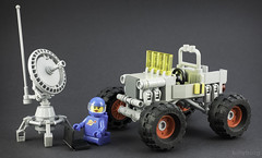 What are the chances of finding a second Willys Lunar Jeep on the moon? (billyburg) Tags: lego classic space febrovery willys jeep monster truck fat tyre big is better 4wd four wheel drive radar