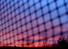 V A N I S H I N G   .   P O I N T (Graphic design - Photo - Art) Tags: siatka net kratka zachód sunset colorful kolorowy chmury clouds nature hiding