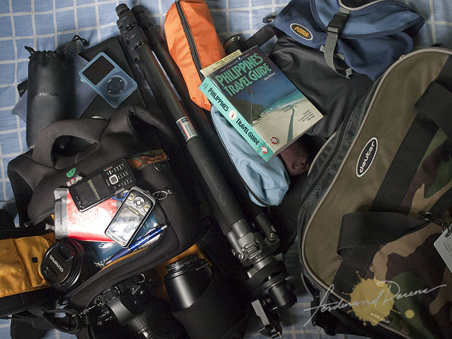 The stuffs I bring on a Photo Assignment
