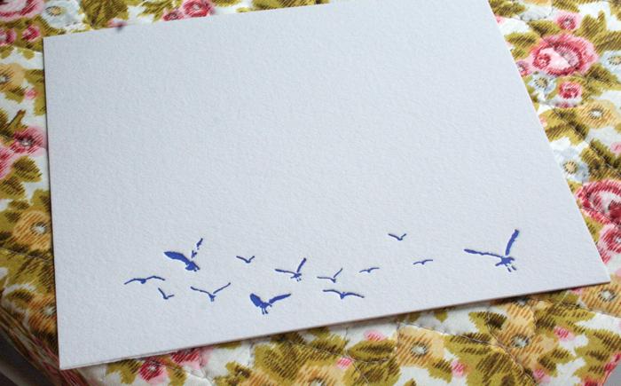 letterpress seagulls