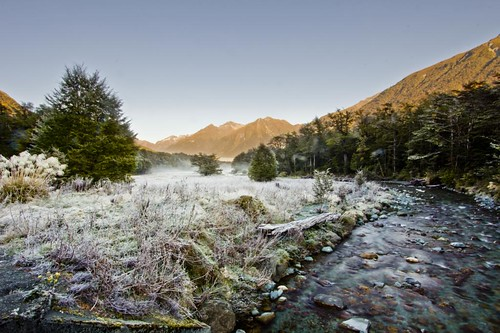 Milford Sound on a winter morning