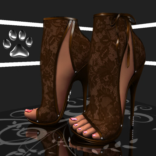 P10 Maia Heels Lace Chocolate