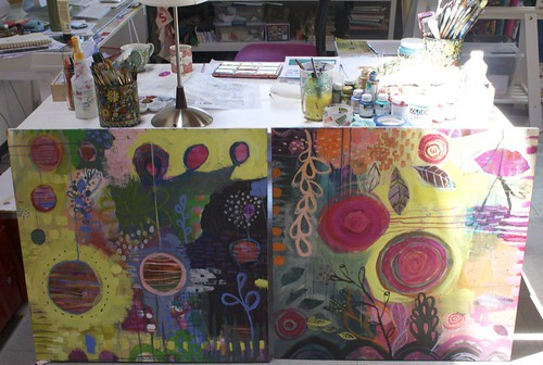 my paintings from flora's class