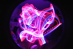 DSC_0001 (aamylindholm) Tags: light painting star long exposure glow fisheye jedi stick wars sabers