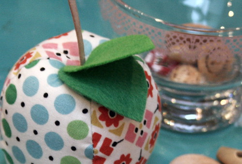 Apple pincushion detail