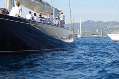 Blue and Blue (mhobl) Tags: france reflection boats sailing regatta yachts 2007 sainttropez jclass velsheda jklasse
