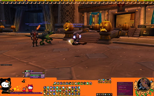 My new Hello Kitty World of Warcraft UI