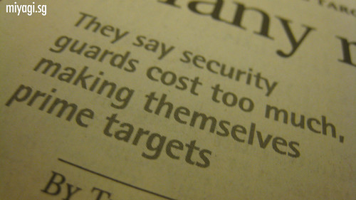 Security guards are prime targets for robbers?