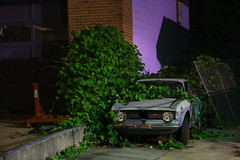 Alfa Romeo VS Kudzu (jstancel) Tags: longexposure atlanta car georgia photography photo urbandecay picture photograph gt alfaromeo kudzu giulia veloce allrightsreserved jstancel