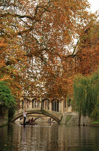 Heading towards the Bridge of Sighs on the River Cam, Cambridge