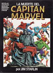 Portada La muerte del capitán Marvel