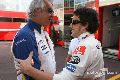 fernando alonso. Fernando Alonso y Flavio