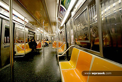 New York subway (wprasek) Tags: new york newyork yellow modern train bench underground subway us carriage unitedstates contemporary interior transport style tunnel minimal clean rows inside benches simple modernist stylish newyorkmetrosubway warrenprasek foliotransporttravel xoodu wprasek wwwxooducom wwwwprasekcom
