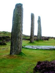 Orkney Islands - Standing Stones (little_frank) Tags: world old uk greatbritain wild lake heritage history archaeology monument nature beauty vertical skyline standing circle wonder landscape freedom islands scotland site ancient orkney stenness scenery europe colours view place unitedkingdom britain stones magic free scottish escocia historic ring unesco special fantasy land erica ritual celtic wilderness pillars pure prehistoric monolith witchcraft impressive stands stacks monoliths neolithic schottland bedrock henge sensation druids celts ecosse brodgar brogar scozia monolithic primordial isthmus coloumns isole harray preistoria orcadi
