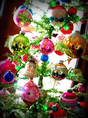 "365 315 ""I never thought it was such a bad little tree. It's not bad at all, really. Maybe it just needs a little love."" --Linus (artsy_T) Tags: old silly reflection me vintage colorful antique funky christmastree retro ornaments bulbs tina 365 picnik artsyt thisisthefirsttimeiveputupatreewithallofthemtogether itslikeagrandopeningorsomething"