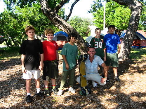 Scout troop in West Summerland Key, Florida, USA