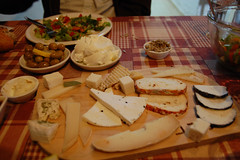 Yummy lunch, Goat cheese farm