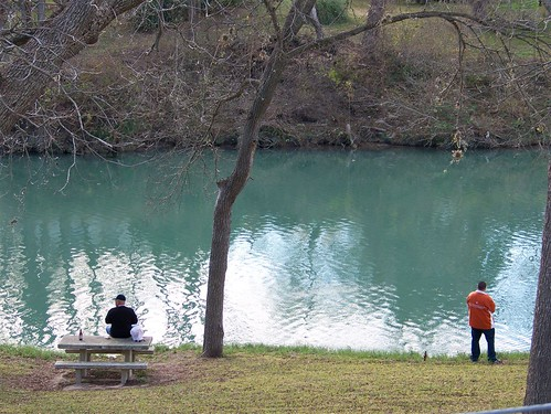 Fishing along the Guadalupe River.