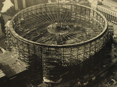 Old Madison Square Garden (javimax) Tags: nyc vortex newyork field wheel architecture strand turn hoop garden belt globe construction circus stadium horizon band halo tire bowl pit ring diamond lap wreath disk corona sphere cycle revolution round bracelet record oldphoto crown coliseum zodiac amphitheater coil disc parallel madisonsquaregarden canona80 circuit curiosity cirque orbit gymnasium compass stade meridian equator 100yearsold arquitecture enclosure perimeter gridiron periphery aureole cordon ringlet circlet circumference manhattanbuilding athleticfield ecliptic specialshot colure javimax beginingmadison returntopast fullturn