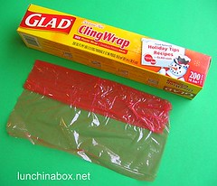 Red plastic wrap