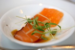 Salmon Belly from the amuse bouche