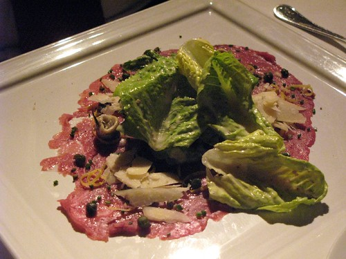 Carpaccio with Caesar at Blanca