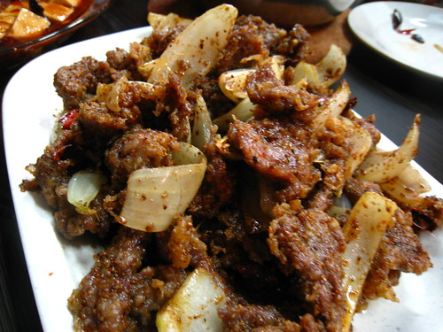 Fried Mutton with Cumin & Chili