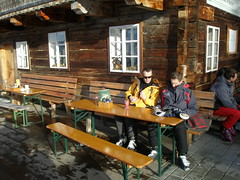 Michael and Gernot at the hut