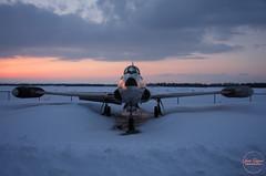 Retired (JLphoto36) Tags: sunset sun nature plane landscape soleil military jet borden base militaire avion coucherdesoleil supportourtroops cfb