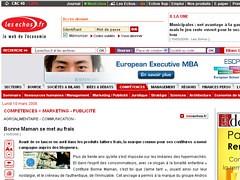 Les Echos 10 mars 2008 Le buzz Bonne Maman