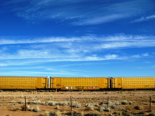 Train near the Continental Divide, New Mexico, USA