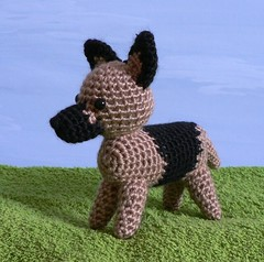 crocheted german shepherd