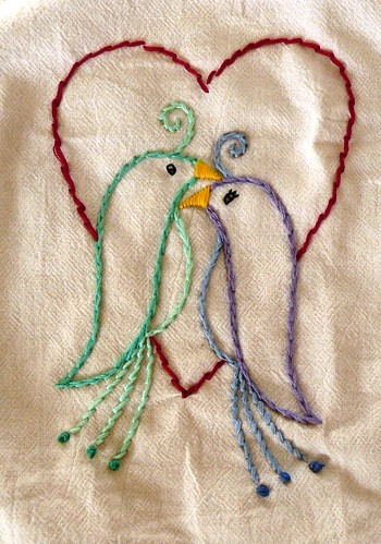 Lovebird Embroidery