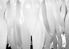 (Gienna Writes) Tags: arizona blackandwhite white deleteme6 naked nude mannequins savedbythedeletemegroup nike saveme10 bellybutton fembots whiteonwhite sacralchakra safedomino
