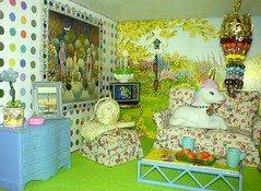Sitting Room (Rainbow Mermaid) Tags: house color colour cute miniature rainbow colorful doll dolls tiny colourful mermaid unicorn dollhouse rainbowmermaid