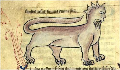 Kongelige Bibliotek, Gl. kgl. S. 1633 4º, Folio 15v -Manticora