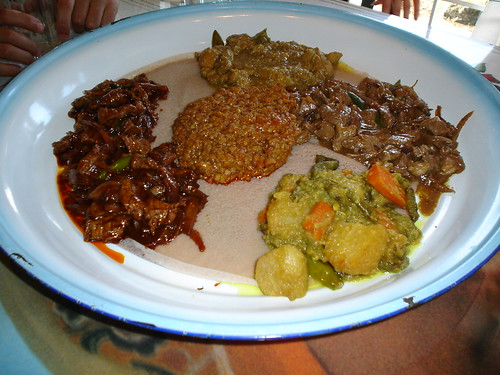 Ethiopian dinner at Red Sea Cafe