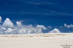 White sands, blue sky