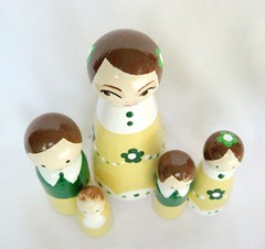 Yellow and Green Family ~ top (DawnAliceRogers) Tags: wood family flowers people baby green art girl yellow kids children mom toy happy miniature kid doll dolls child display handmade oneofakind ooak painted mommy small families daughter mother son mama tiny figure daisy etsy brunette artdoll artforsale dollhouse whismical originaloneofakind etsychai