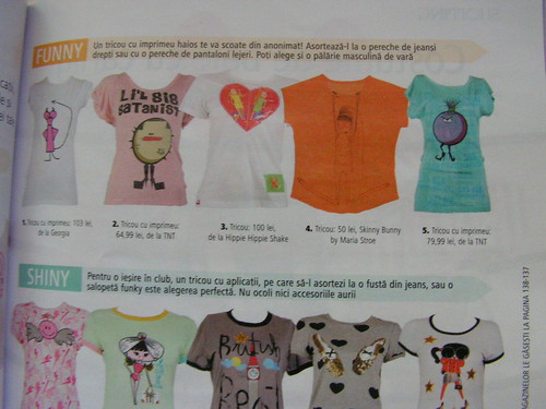 o.k. another one..one of my t-shirts in Bolero magazine t-shirt section