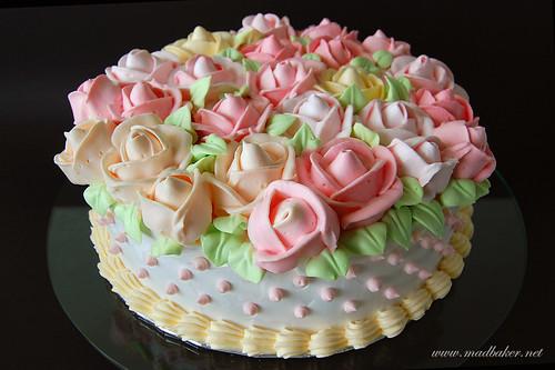Roses Cream Cake