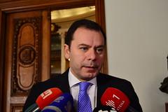 Luís Montenegro em declarações à imprensa