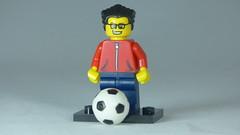 Brick Yourself Custom Lego Figure Soccer Enthusiast