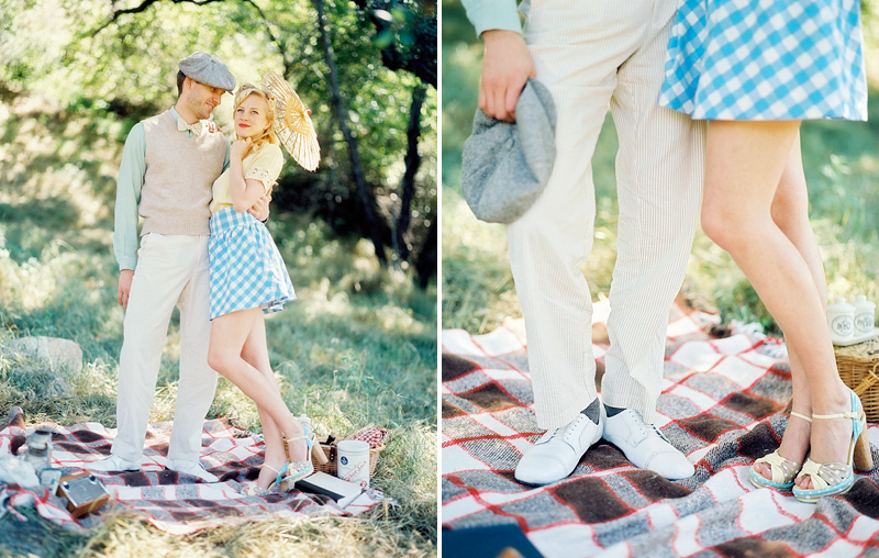 J&K 40's Vintage Engagement Session