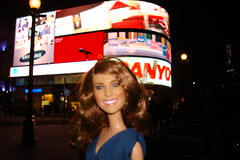 Princess Catherine Engagement Doll at Piccadilly Circus (Princess Catherine Doll) Tags: london toy doll princess kate royal tourist catherine british middleton arklu