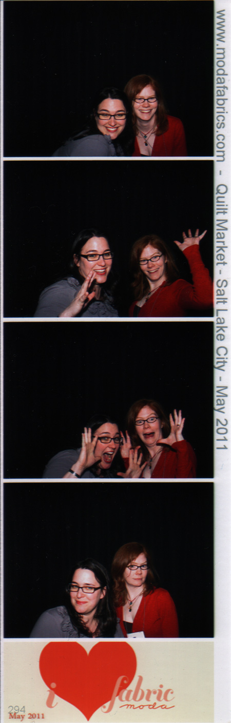 Amy and Sarah at the Moda Photo Booth