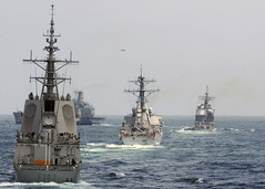 USS Mitscher and USS Gettysburg join a Spanish...
