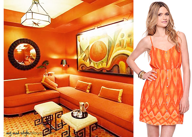 dress and room orange