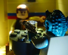 Going, somewhere, Solo ? (WampaStompa) Tags: starwars lego newhope cantina hansolo greedo